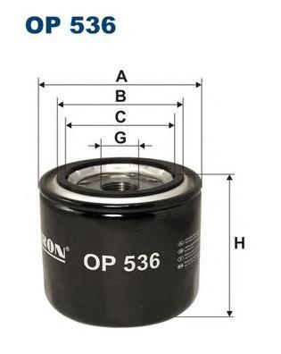 Фильтр масляный OP536