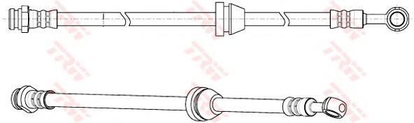 Шланг тормозной передний CHEVROLET AVEO (T250) PHD947