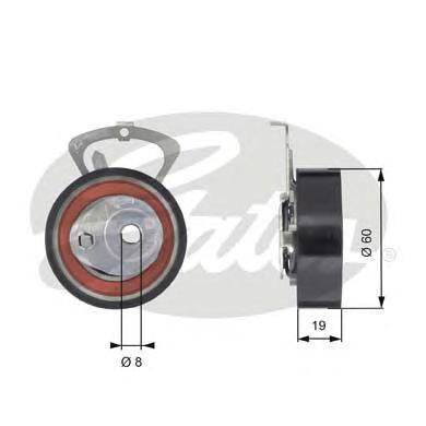 Ролик натяжителя GATES T43140 привода р/вала VW 1.4/1.6 16V