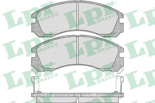 Комплект тормозных колодок 05P578