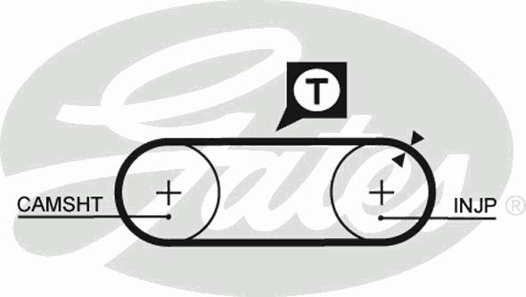 Ремень ГРМ GATES 5246 AUDI 2.4D