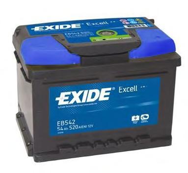Аккумуляторная батарея 60Ah EXIDE EXCELL 12V 60AH 540A ETN 0(R+) B13 242x175x175mm 14.1kg
