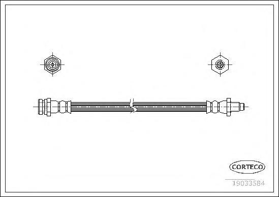 Тормозной шланг задний [230mm]