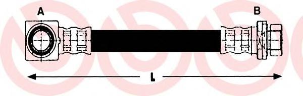 Тормозной шланг Re FO Mondeo II 2.5L 96-00 340мм