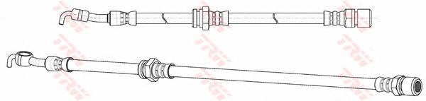 Шланг тормозной TRW PHD991 LACETTI задн R 445мм