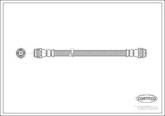 Шланг тормозной AUDI: 100 Avant 2.0 TD 82-90, A3 1.6/1.8/1.8 T/1.8 T quattro/1.9 TDI/1.9 TDI quattro/S3 quattro 96-03, A4 кабрио 1.8 T 02-09, QUATTRO