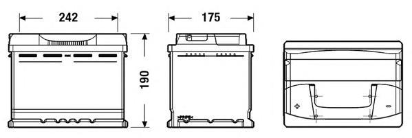 Аккумуляторная батарея 62Ah DETA POWER 12 V 62 AH 540 A ETN 1(L+) B13 242x175x190mm 15.6kg