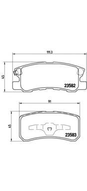 Колодки тормозные PEUGEOT 4007/MITSUBISHI PAJERO III/OUTLANDER 06> задние