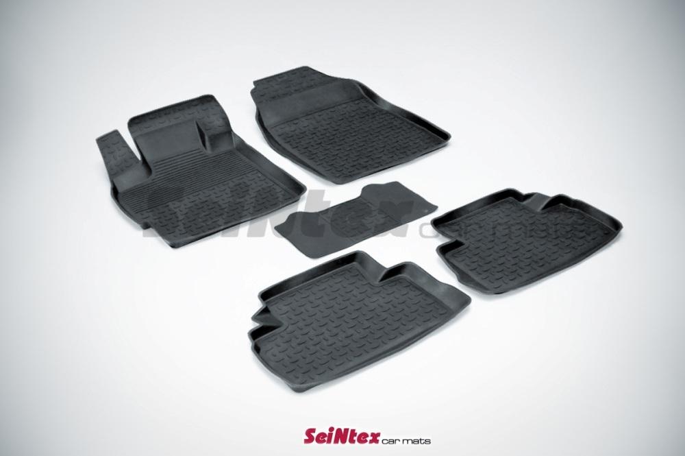 Автомобильный коврик Seintex 01258 для Mazda 2 от 2007 - фото 5