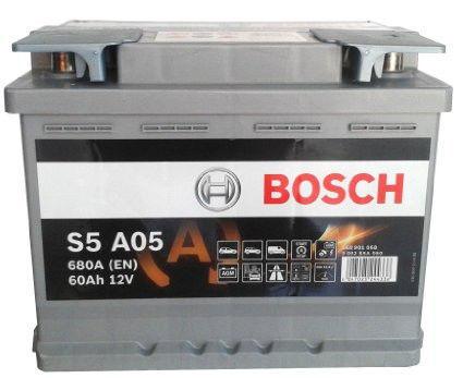 Аккумуляторная батарея 60Ah BOSCH S5 AGM 12V 60AH 680A ETN 0(R+) B13 242x175x190mm 17.5kg