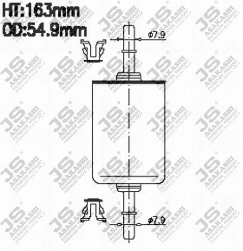 Фильтр топливный FS618J