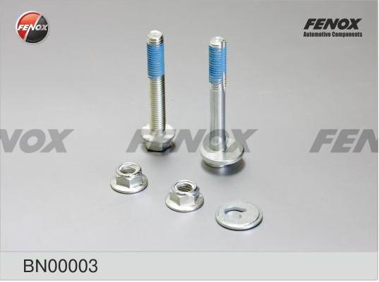 Комплект монтажный FENOX BN00003 Ford Focus I/II, Focus C-Max, Kuga I, C-Max I; Mazda 3, 5; Volvo S40/V40 для подпружинного рычага (развальный болт в сборе и обычный болт с гайкой)