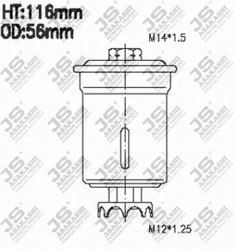 Фильтр топливный FS6002U
