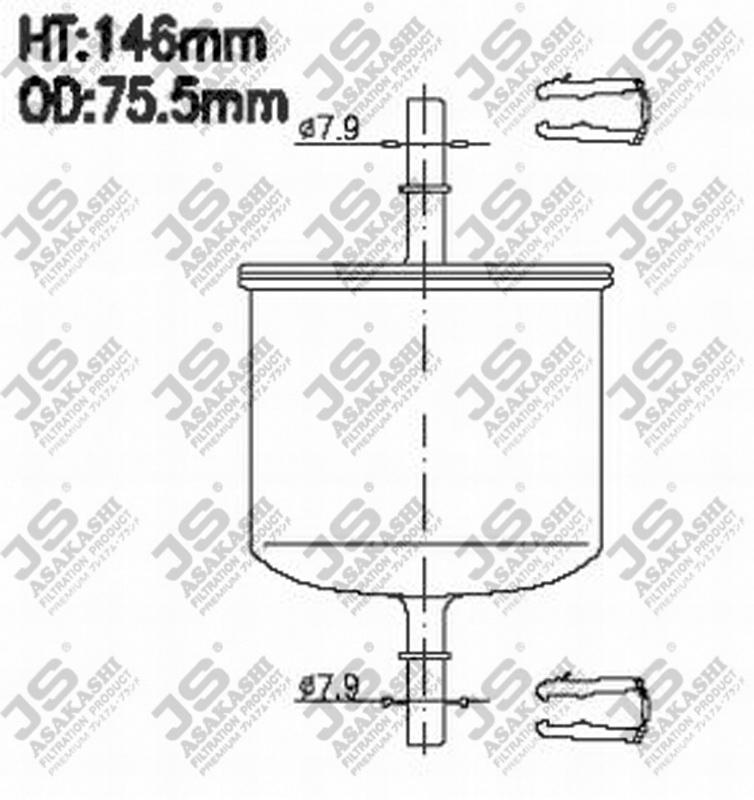 Фильтр топливный FS800M