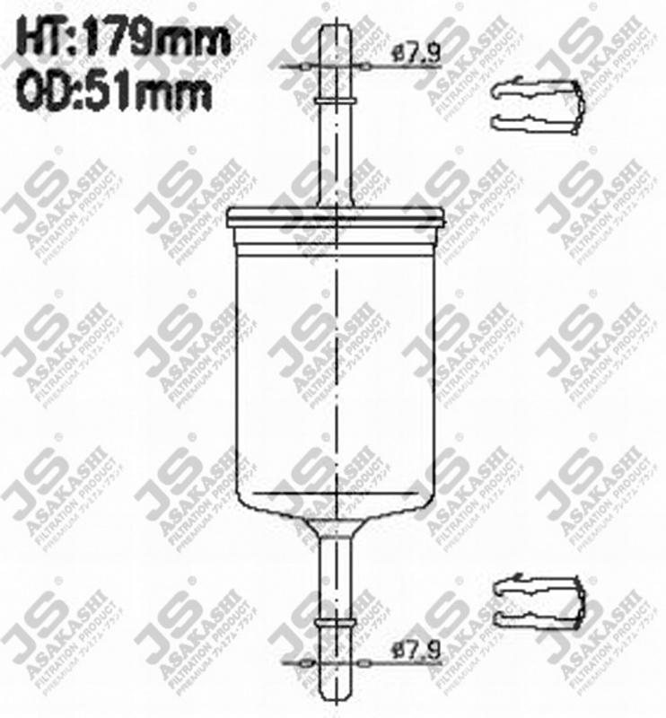 Фильтр топливный FS986M