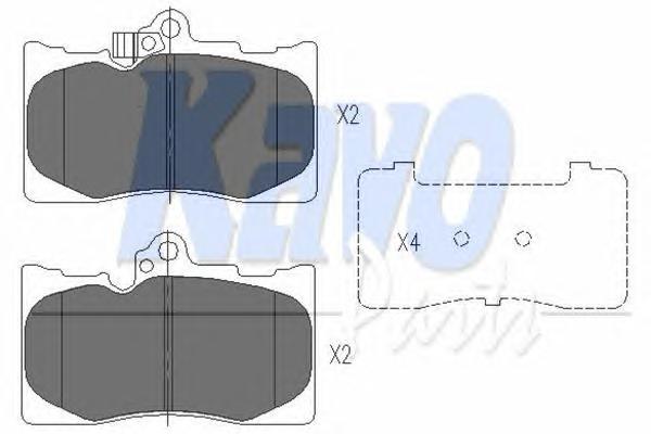 KBP9085 Колодки тормозные LEXUS GS 300/450h/460 05- передние