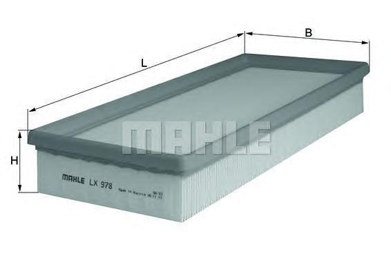 LX978 Фильтр воздушный FORD MONDEO 1.8-3.0 00-