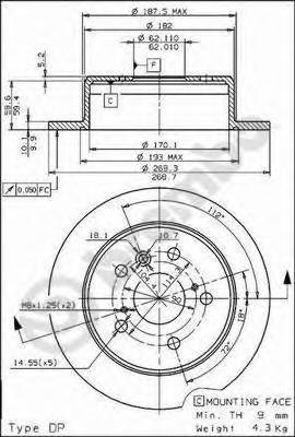 14523 Тормозной диск