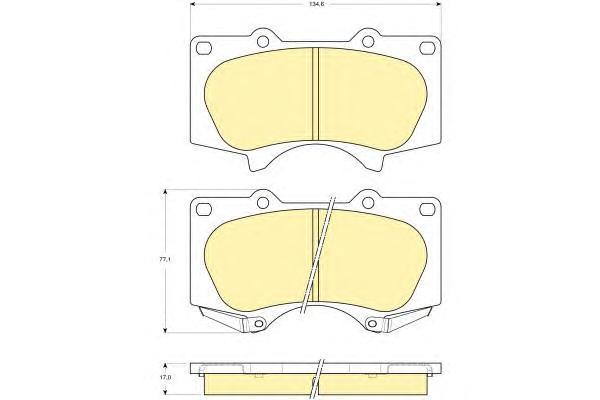 6133649 Колодки тормозные TOYOTA LC 120 4.0/3.0D/MITSUBISHI PAJERO 06 передние
