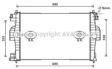 CN2280 Радиатор системы охлаждения CITROEN: DS4 1.6 THP 200 11-, DS5 1.6 THP 200 11- PEUGEOT: 308 (4A, 4C) 1.6 GTI 07-, 308 CC 1