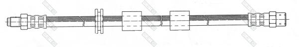9002101 Шланг тормозной BMW E30/36/34 M10x1/SW14X445mm пер.