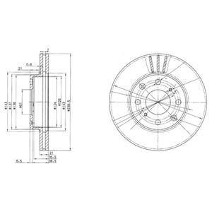 BG2673 Диск тормозной HONDA CIVIC 1.3-1.6 91-01 передний D=240мм.