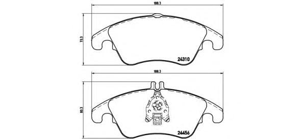 P50069 Колодки тормозные MERCEDES W204/W212 (спорт) передние