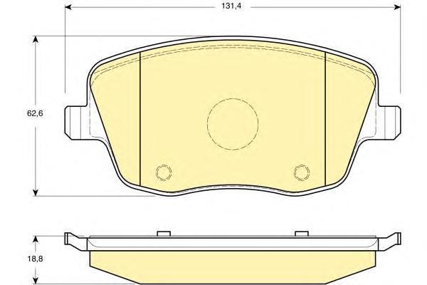 6114141 Колодки тормозные SKODA FABIA/VOLKSWAGEN POLO 1.2-1.9D 02- передние