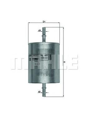 KL409 Фильтр топливный FORD MONDEO 1.8-3.0 -07/TRANSIT 2.3 06-