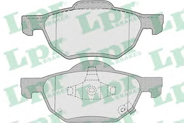05P1211 Колодки тормозные HONDA ACCORD 2.0/2.2/2.4 03 передние