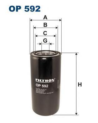 OP592 Фильтр масляный IVECO/DAF