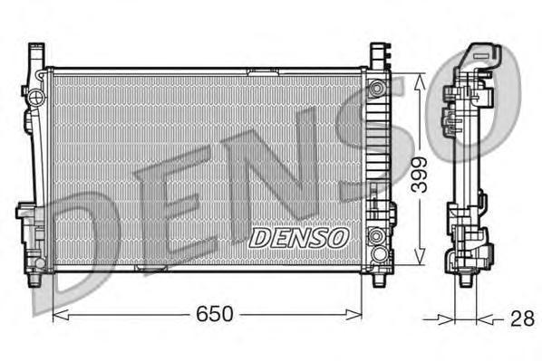 DRM17013 Радиатор системы охлаждения MERCEDES-BENZ: A-CLASS (W169) A 150 (169.031, 169.331)/A 160 CDI (169.006, 169.306)/A 170 (