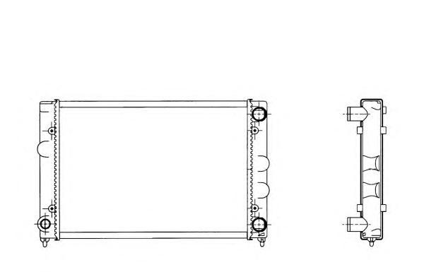 509505 Радиатор VAG Pass 1,8 -93 (Heavy Duty)