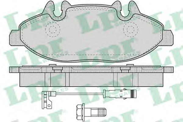 05P1228 Колодки тормозные MERCEDES VIANO/VITO 2.0D-3.7 03- передние