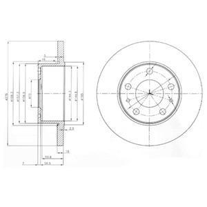 BG3751 Диск тормозной IVECO DAILY III 99- задний (276x16)