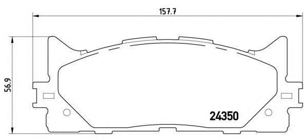 P83117 Колодки тормозные TOYOTA CAMRY V40 06-/V50 11-/LEXUS ES 240/350 06- передние