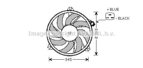 pe7524 Вентилятор, охлаждение двигателя