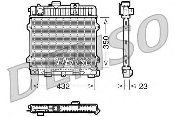DRM05024 Радиатор системы охлаждения BMW: 3 (E30) 316/316 (Ecotronic)/316 i/318 i 82 - 92 , 5 (E28) 518/518 i/518i 80 - 90