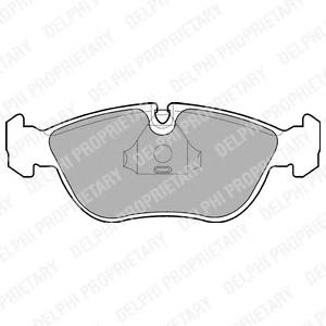 LP839 Колодки тормозные дисковые, комплект