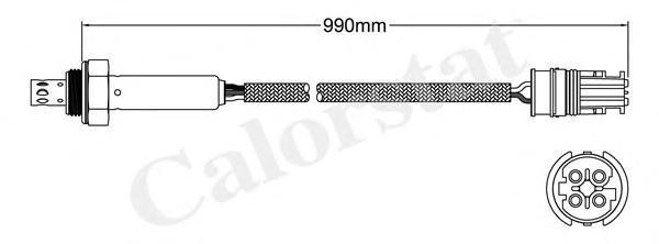 LS140180 Лямбда-зонд BMW: 3 320 i/323 i 2.5/328 i 90-98, 3 Compact 323 ti 94-00, 3 Touring 320 i/323 i/328 i 95-99, 3 кабрио 320
