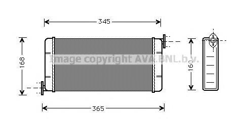 MSA6109 Радиатор отопителя MB W201 2.0-2.6 83-95