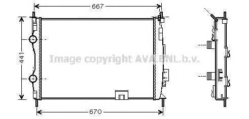 DN2280 Радиатор NISSAN QASHQAI 2.0 A/T 07-