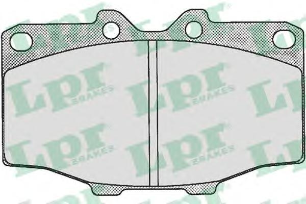 05P202 Колодки тормозные TOYOTA LAND CRUISER 2.4-4.2 75-93 передние