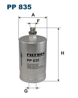 PP835 Фильтр топливный MB W202/W124/W460/W126/W201 1.8-6.0