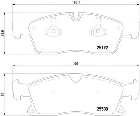 P50108 Колодки тормозные MERCEDES-BENZ ML W166 250-350 11- передние