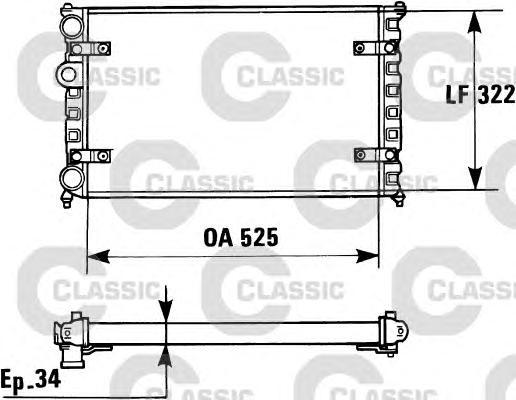 230947 Радиатор, охлаждение двигателя
