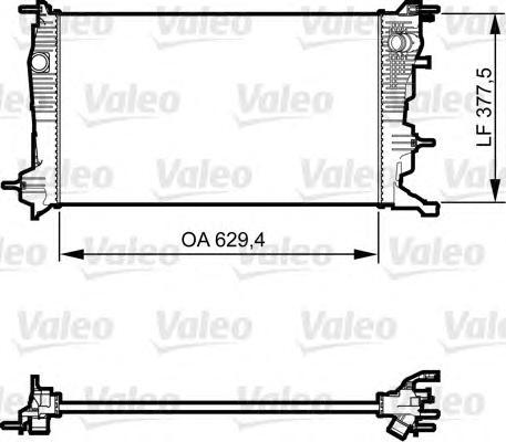 735607 Радиатор RENAULT MEGANE/SCENIC 1.5D 09-