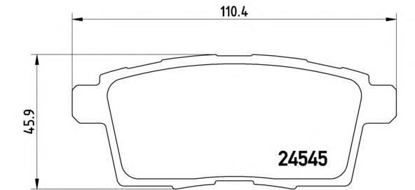 P49041 Колодки тормозные MAZDA CX7/CX9 07- задние