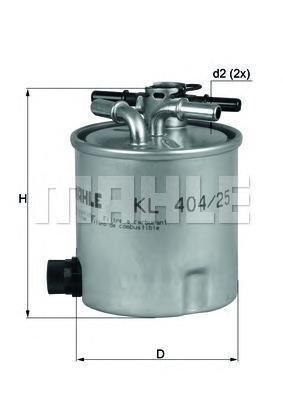 KL40425 Фильтр топливный RENAULT LOGAN/SANDERO 1.5D 05-