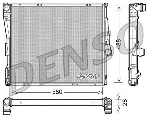 DRM05090 Радиатор системы охлаждения BMW: X3 (E83) 2.5 I/3.0 I 04-